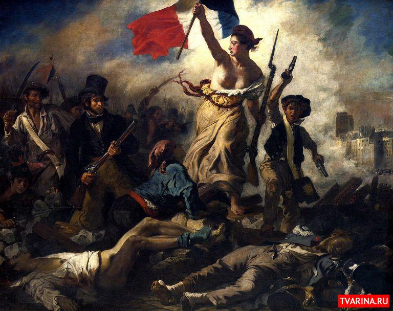 Картина Свобода, ведущая народ художника Эжена Делакруа